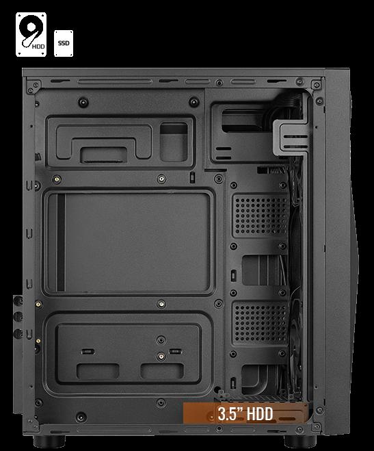 2 Ventilateurs FRGB Bo/îtier PC Verre Tremp/é Aerocool Glider Cosmo Grille